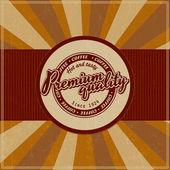 Retro Vintage Coffee Background with Typography — Vector de stock