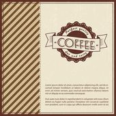 Retro Vintage Coffee Background — Stock Vector