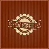 Retro Vintage Coffee Background with Typography — Stockvector