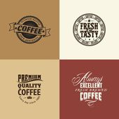 Retro elements for coffee calligraphic designs — Stock Vector