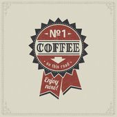 Retro Vintage Coffee Background with Typography — 图库矢量图片