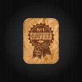Fundo retro vintage café com tipografia — Vetor de Stock