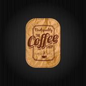 Retro Vintage Coffee Background with Typography — Stock Vector