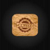 Ретро Винтаж кофе фон с типографии — Cтоковый вектор