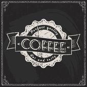 Coffee shop Label — ストックベクタ