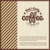 Retro Vintage Coffee Background — Stock Vector