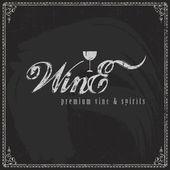 Pizarra vino diseño — Vector de stock