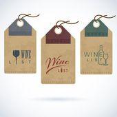 Wine bar restaurant vector label template — Stock Vector