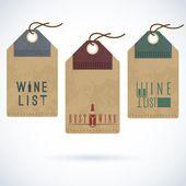 Wine bar restaurant vector label — Stock Vector