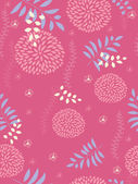 Seamless pattern with floral background — Stock Vector