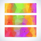 Website header or banner colorful mosaic set — Stock Vector