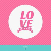 Happy valentines day vector love cards — Vettoriale Stock