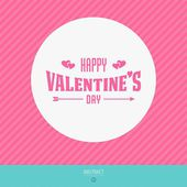 Happy valentines day vector love cards — Vector de stock