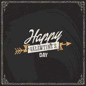 Happy Valentine's day card. — Stock Vector