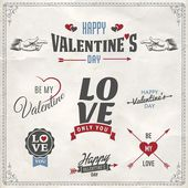 Happy Valentine's day typographical  card. — Stock Vector