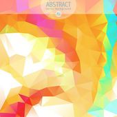 Abstract 3D geometric colorful mosaic background — Cтоковый вектор