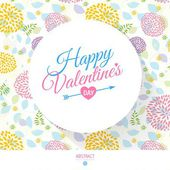 Happy Valentines day card with calligraphy — Stock Vector