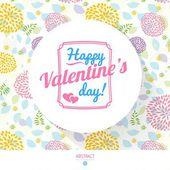 Счастливый день Святого Валентина карты с каллиграфии — Cтоковый вектор