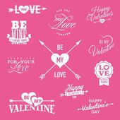 Valentine's day vector illustrations — Stock Vector