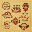 Set of vintage bakery or bread shop labels — Stock Vector