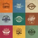 Set de café retro vintage insignias y etiquetas — Vector de stock  #42959317