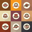 Set of vintage retro coffee badges and labels — Vector de stock  #42959681