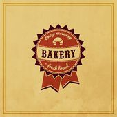 Bakery Retro Label — Vettoriale Stock