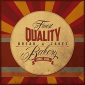 Bakery Retro Label — 图库矢量图片
