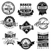 Retro bakery labels collections — Stock Vector