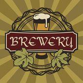 复古风格的啤酒标签. — 图库矢量图片