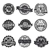 Retro set styled label of beer. — Wektor stockowy