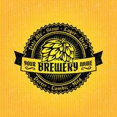Plantilla de diseño de etiquetas de cerveza — Vector de stock