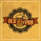 Retro styled label of beer. — Stock Vector