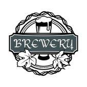 Retro styled vector label of beer. — Stock Vector