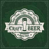 Retro styled label of beer or brewery — Stock Vector
