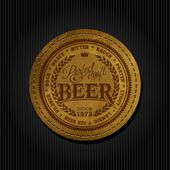 Retro styled label of beer — Stock Vector