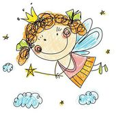 Little fairy — Stock Vector