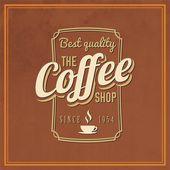 Fondo retro vintage café — Vector de stock