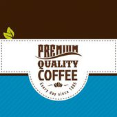 Vector coffee shop labels with calligraphy — Stock Vector