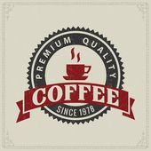 Vintage retro coffee badges or labels — Stock Vector