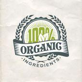 Vintage eco green sticker label — Vector de stock