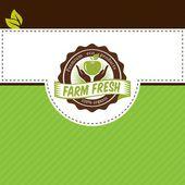 Natural eco food typographic labels — Stockvektor
