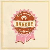 Vintage Retro Bakery Label — Stock Vector