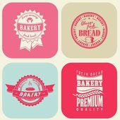 Vintage ekmek etiket kümesi — Stok Vektör