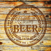Retrò in stile etichetta della birra. — Vettoriale Stock