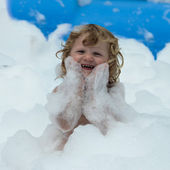 Soap foam party — Stock Photo
