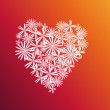 Stock Photo: Floral heart