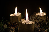 Advent candle — Foto de Stock
