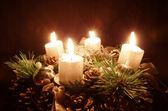свечу адвента — Стоковое фото