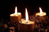 Advent candle — Foto Stock